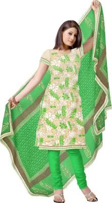 Sre Chanderi Embroidered, Printed Salwar Suit Dupatta Material