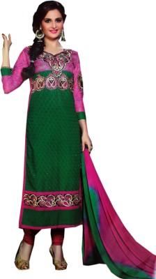 ahujaenterprise Cotton, Chanderi Embroidered Salwar Suit Dupatta Material
