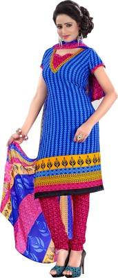The Fashion World Crepe Printed Semi-stitched Salwar Suit Dupatta Material