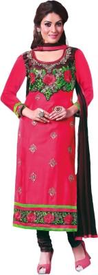 Prachi Silk Mills Cotton Embroidered Semi-stitched Salwar Suit Dupatta Material