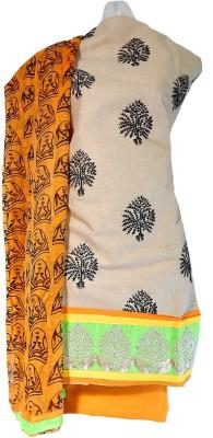 Lattice Cotton Embroidered Salwar Suit Dupatta Material