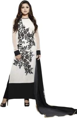 Famina Creation Georgette Embroidered Salwar Suit Dupatta Material