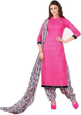 Minu Suits Cotton Printed Salwar Suit Dupatta Material(Un-stitched) at flipkart
