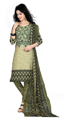 Jay Ganapati Synthetic Graphic Print Salwar Suit Dupatta Material