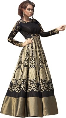 stylescloset Silk Printed, Embroidered Semi-stitched Salwar Suit Dupatta Material
