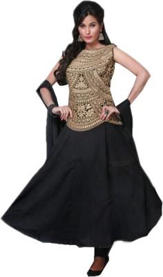 BLIS BOUTIQUE Georgette Embroidered Salwar Suit Dupatta Material