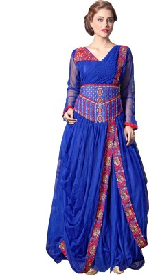 Saree Exotica Net Embroidered Semi stitched Gown available at Flipkart for Rs.1931