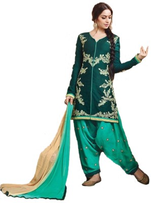 Shop Well Soon Cotton, Chiffon Embroidered Salwar Suit Dupatta Material
