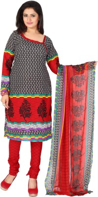 The Fashion World Cotton Printed Semi-stitched Salwar Suit Dupatta Material