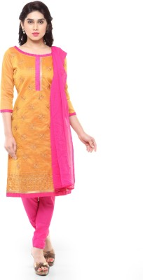 Suali Chanderi Embroidered Salwar Suit Dupatta Material(Un-stitched) at flipkart