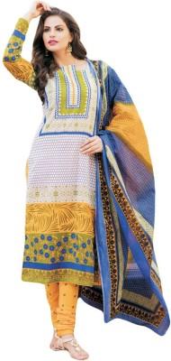 Salwar Studio Cotton Floral Print Salwar Suit Dupatta Material