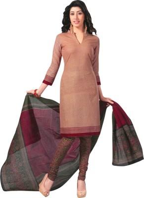Shree Ganesh Cotton Chevron, Printed Salwar Suit Dupatta Material
