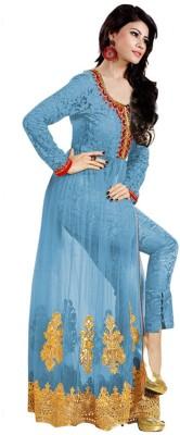 PRN Net Embroidered Salwar Suit Dupatta & Waistcoat Material
