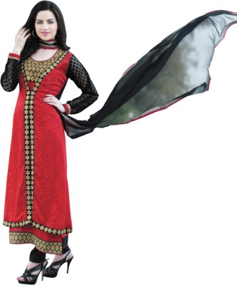 Diva Divine Brasso Embroidered Semi-stitched Salwar Suit Dupatta Material