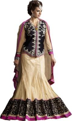 Style Mania Velvet Embroidered Lehenga Choli Material