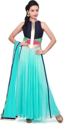 Styles Closet Georgette Self Design Semi-stitched Salwar Suit Material