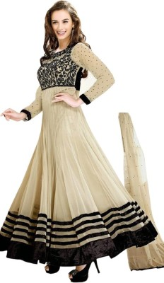RudrikaCreation Georgette Embroidered Semi-stitched Salwar Suit Dupatta Material
