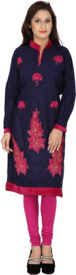 Indo Essence Wool Woven Kurti Fabric