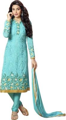 Trendzcollection Georgette Embroidered Salwar Suit Dupatta Material