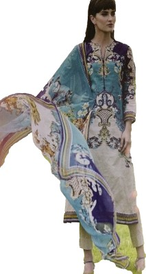 KCreations Cotton Floral Print Salwar Suit Dupatta Material