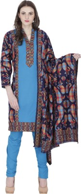 Indo Essence Wool Woven Semi-stitched Salwar Suit Dupatta Material