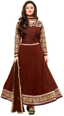 Harikrishn Georgette Self Design Semi-stitched Salwar Suit Dupatta Material
