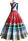 Khantil Silk Embroidered Semi-stitched L...