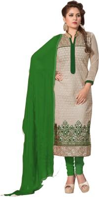 Grahlaxmi Chanderi Embroidered Salwar Suit Dupatta Material
