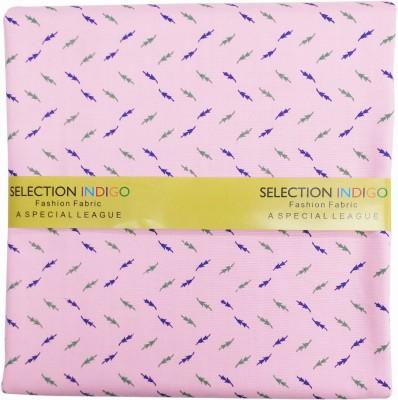 Selection Indigo Cotton Polyester Blend Printed Shirt Fabric