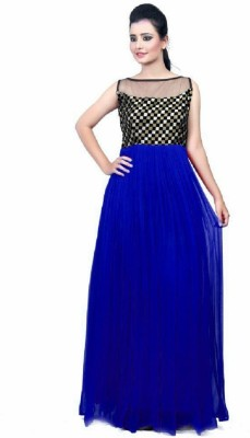 J AND J FASHION Georgette Embroidered Dress/Top Material