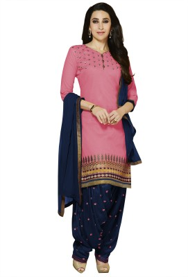 F3 Fashion Cotton Self Design Salwar Suit Dupatta Material