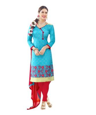 Saree Exotica Cotton Embroidered Salwar Suit Dupatta Material