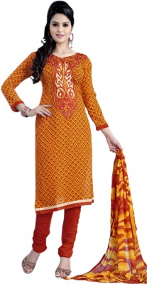 Florence Crepe Embroidered Salwar Suit Dupatta Material