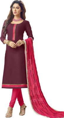 Belletouch Chanderi Embroidered Salwar Suit Dupatta Material