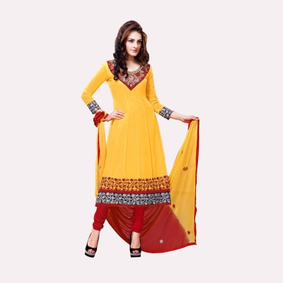 Livaaz Georgette Self Design Salwar Suit Dupatta Material