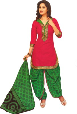 Women Shoppee Cotton Graphic Print Salwar Suit Dupatta Material