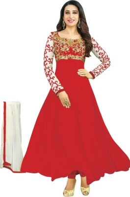 Nilkanth Communication Georgette Embroidered Salwar Suit Dupatta Material