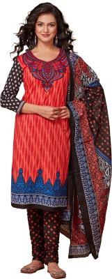 Saran Cotton Self Design Semi-stitched Salwar Suit Dupatta Material