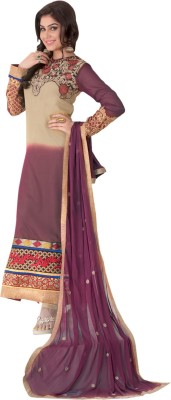 Dlines Georgette Embroidered Salwar Suit Dupatta Material
