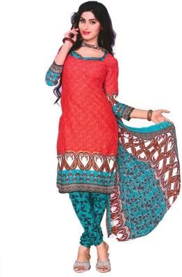 Revva Cotton Printed Salwar Suit Dupatta Material