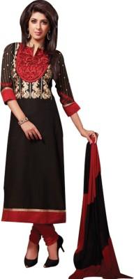 Yati Georgette Embroidered Semi-stitched Salwar Suit Dupatta Material