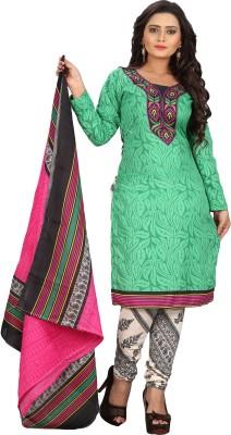 Sonal Trendz Cotton Polyester Blend Printed Salwar Suit Dupatta Material