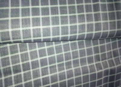 Ud Febric Cotton Polyester Blend Checkered Shirt Fabric