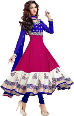 Shayona Georgette Self Design Semi-stitched Salwar Suit Dupatta Material