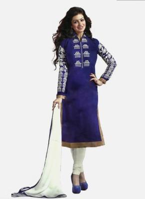 RSfantasea Chanderi Embroidered Salwar Suit Dupatta Material