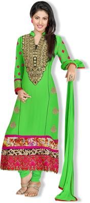 Fabfiza Georgette Self Design, Embroidered Semi-stitched Salwar Suit Dupatta Material