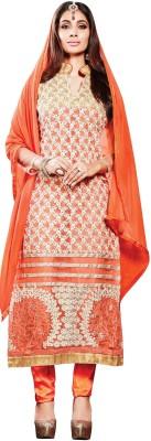 Sai Fashion Georgette Embroidered Semi-stitched Salwar Suit Dupatta Material