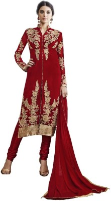 Gaurangi Creations Georgette Embroidered Semi-stitched Salwar Suit Dupatta Material
