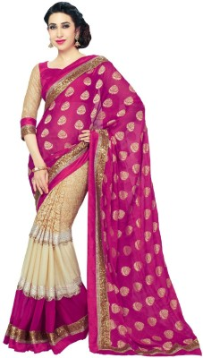 AahnaFashion Printed Fashion Georgette Sari