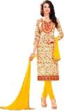 Manvaa Cotton Embroidered Semi-stitched ...